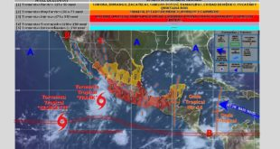Tropical Storms impacting weather across Mexico