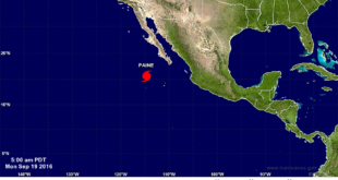 Hurricane Paine has formed in the Pacific off Mexico