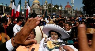 Mariachis parade in Mexico to celebrate patron saint of musicians