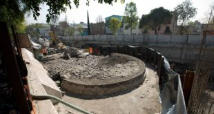 Demolished supermarket in Mexico City reveals ancient temple