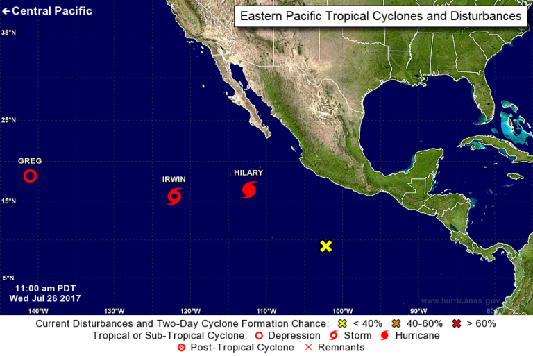 2 hurricanes roar in Pacific far off western Mexico