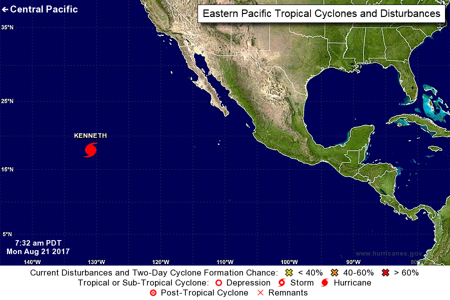 Hurricane Kenneth reaches Category 4 force in Pacific