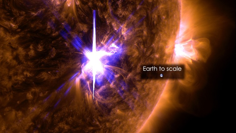 solar flares weather