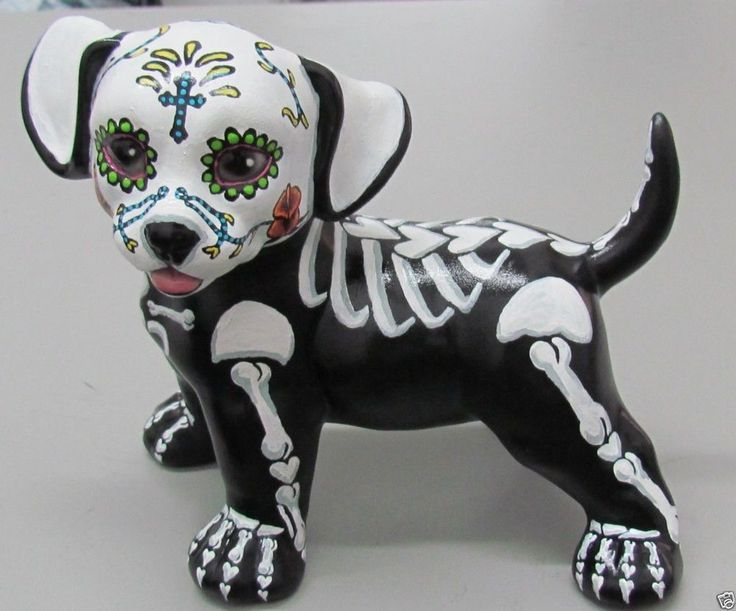 Mexan Day Of Dead Dog Tattoo