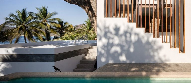 This House By Main Office Blends Into The Tropical Landscape Of A Surfers' Town In Mexico