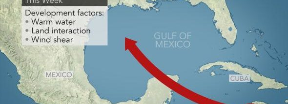 Isaac may attempt to restrengthen before reaching the Gulf of Mexico