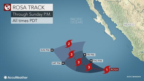 Rosa to impact northwest Mexico before soaking US Desert Southwest