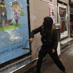 Women in Mexico City protest against alleged police rapes