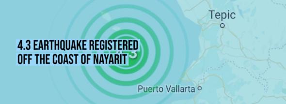 4.3 earthquake registered off the coast of Nayarit